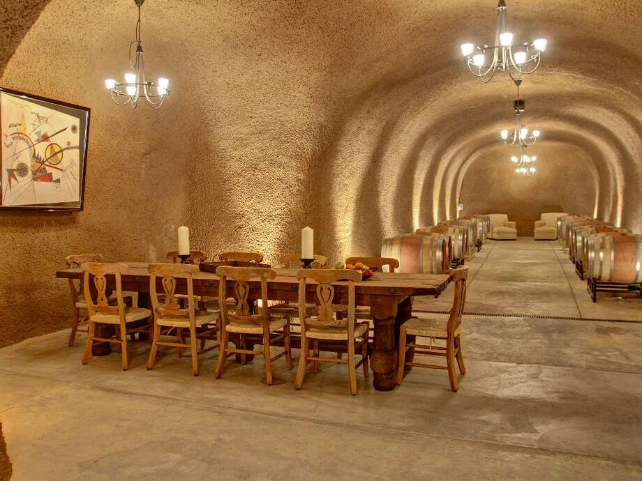 The 7,000 square foot wine cave has plenty of room to entertain. Photo: Randy Knight
