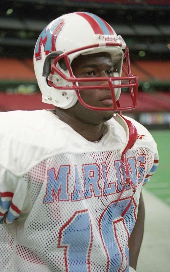 This Texas athlete was a standout as a Houston high school quarterback.