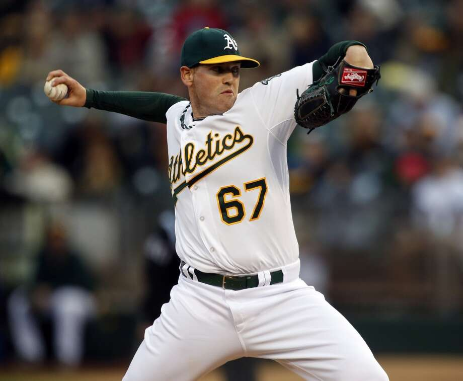 Dan Straily started for the A's against the Rangers on Monday. The Oakland Athletics played the Texas Rangers at O.co Coliseum in Oakland, Calif., on Monday, April 21, 2014. Photo: Carlos Avila Gonzalez, The Chronicle