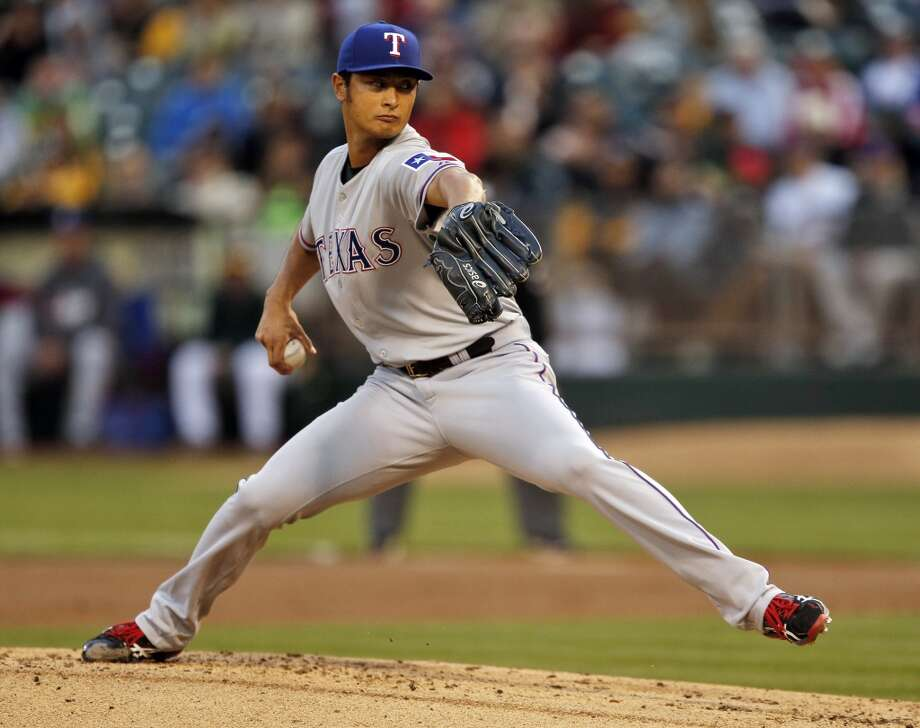 Yu Darvish started for the Rangers against the A's on Monday. The Oakland Athletics played the Texas Rangers at O.co Coliseum in Oakland, Calif., on Monday, April 21, 2014. Photo: Carlos Avila Gonzalez, The Chronicle