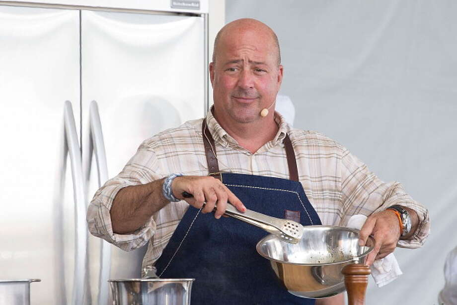 Andrew Zimmern hosts 'Wild Bird 3 Way' during the second annual Austin FOOD & WINE Festival at Butler Park on April 28, 2013 in Austin, Texas.  (Photo by Rick Kern/WireImage) Photo: Rick Kern, WireImage / 2013 Rick Kern