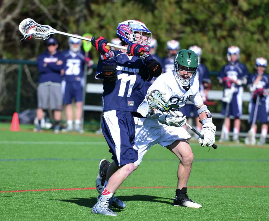 GFA's Max Tarika scored a combined nine goals in wins over Chase Collegiate (April16) and Hamden Hall (April 19). Photo: Contributed Photo / Westport News Contributed
