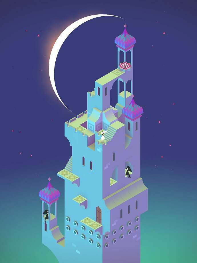 "In ""Monument Valley,"" the player guides Princess Ida, finds hidden paths, uses optical illusions and outwits the cryptic Crow People. Photo: Ustwo Games"