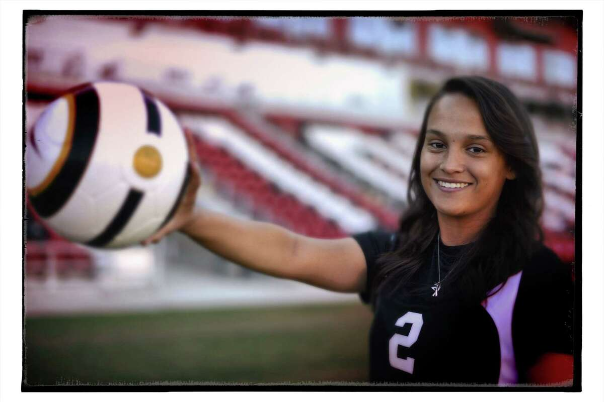 Girls soccer super team: Brittany Flores, Steele senior forward.