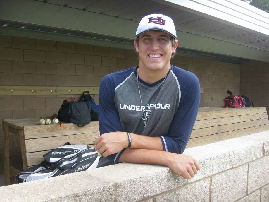 Hardin-Jefferson junior catcher Grayson Padgett has had plenty to smile about this season. After having his baseball career in jeopardy due to two shoulder surgeries, Padgett rejoined the Hawks this season and has fielded scholarship offers from University of Houston and Rice. Raymond A. Partsch/RP3_Sports