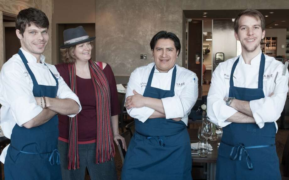 Table's culinary team consists of L to R: sous chef Jason Bergeron, pastry chef Jami Kling, executive chef Manuel Pucha and  executive sous chef William Wright. (Photo: Debora Smail)