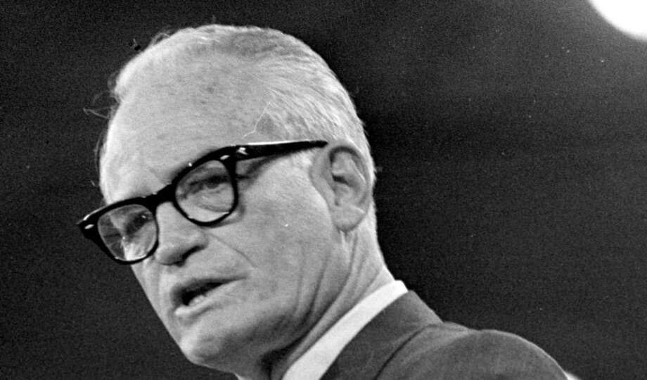 Barry Goldwater, Republican presidential nominee in 1964, was distrustful of centralism. His Jeffersonian ideas have evolved into tea party rhetoric that threatens the future GOP. Photo: Associated Press File Photo / AP