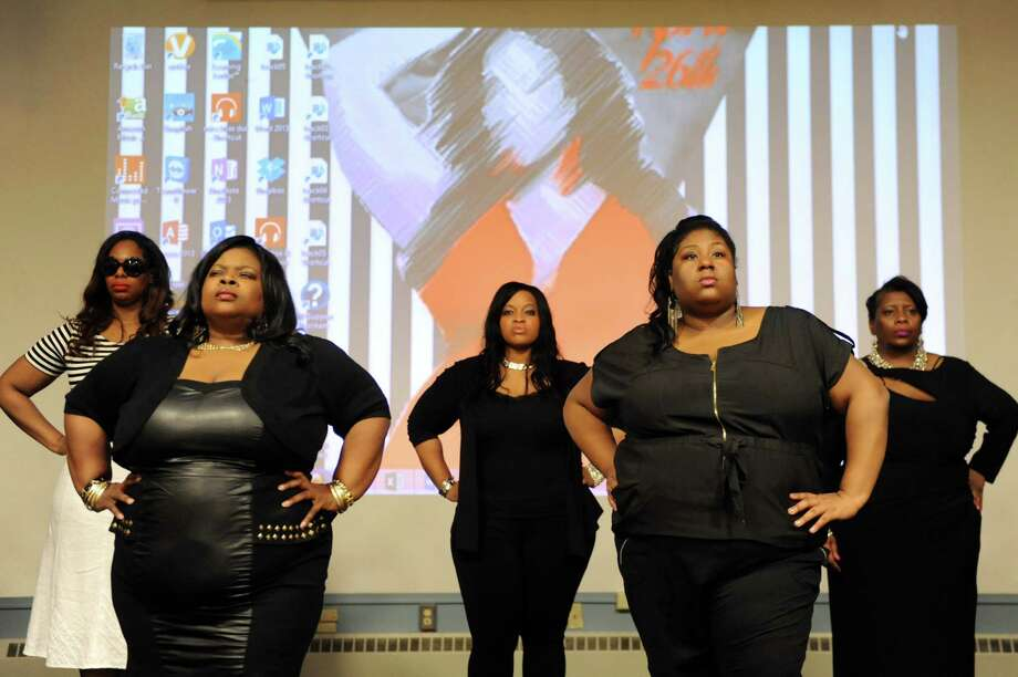 Models rehearse for 2014 Curvention: Thickness Appreciation II on Saturday, April 19, 2014, at the Albany Public Library in Albany, N.Y. The plus-size fashion show takes place on Saturday at 9 p.m. at The Linda. (Cindy Schultz / Times Union) Photo: Cindy Schultz / 00026525A