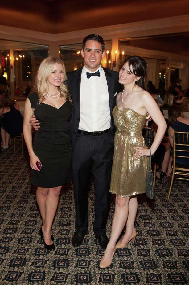 Tessa Whittaker, Brad Hess and Bailey Douglass at the Spinsters of San Francisco Annual Patrons Reception on April 14, 2014. Photo: Drew Altizer, Drew Altizer Photography