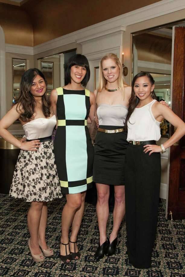 Priya Saiprasad, Tinna Ho, Mary Wunschel and Eileen Chou at the Spinsters of San Francisco Annual Patrons Reception on April 14, 2014. Photo: Drew Altizer, Drew Altizer Photography