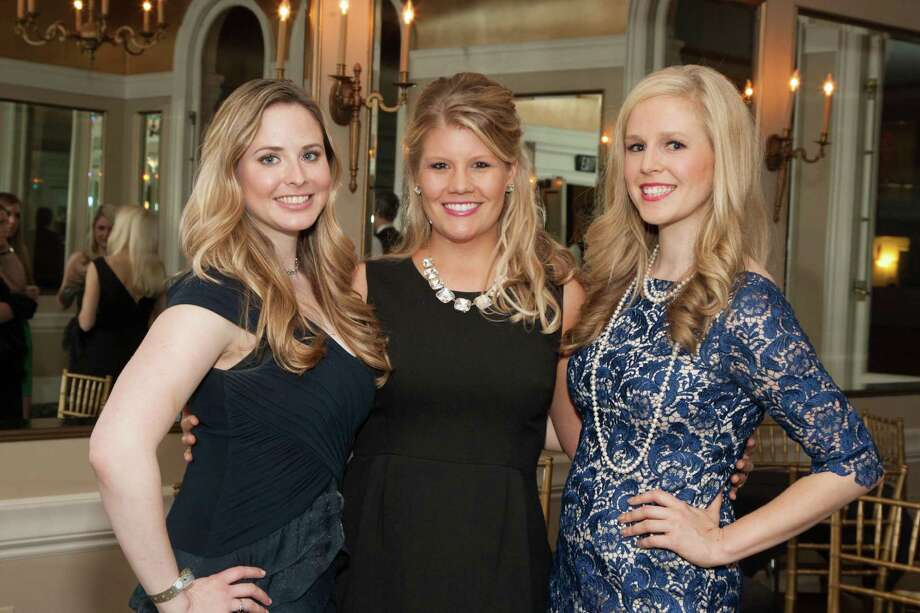 Elizabeth Sgarrella, Laura Davis and Cambria Steel at the Spinsters of San Francisco Annual Patrons Reception on April 14, 2014. Photo: Drew Altizer, Drew Altizer Photography
