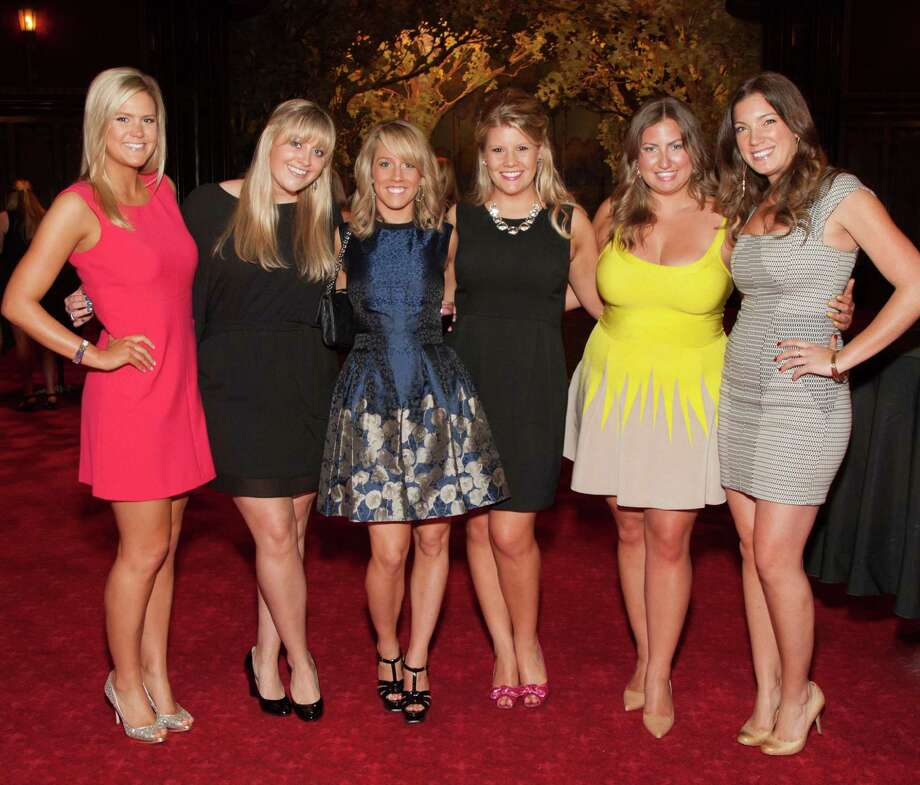 Abbey Davis, Molly Castle, Annie Mowlds, Laura Davis, Annie Benisch and Julia Stenderup at the Spinsters of San Francisco Annual Patrons Reception on April 14, 2014. Photo: Drew Altizer, Drew Altizer Photography