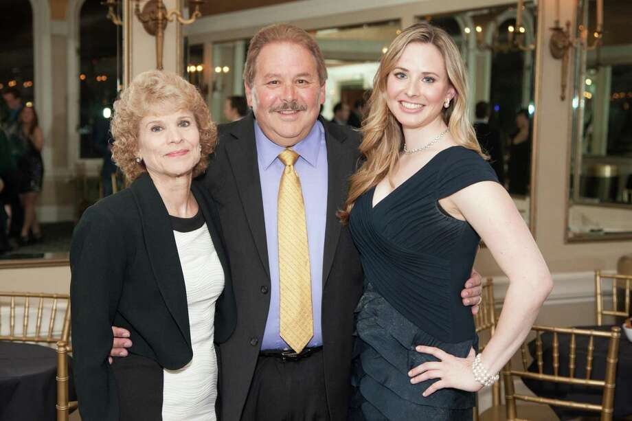 Marjorie Sgarrella, Barry Sgarrella and Elizabeth Sgarrella at the Spinsters of San Francisco Annual Patrons Reception on April 14, 2014. Photo: Drew Altizer, Drew Altizer Photography