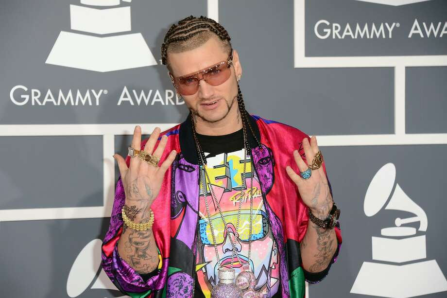 "Some claim Riff Raff, shown at the 2013 Grammy Awards, was the inspiration for James Franco's character in ""Spring Breakers."" Photo: Jason Merritt, Getty Images"