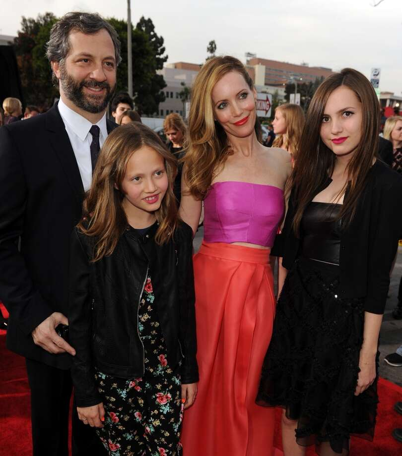 "(L-R) Filmmaker Judd Apatow, Iris Apatow, actress Leslie Mann and Maude Apatow attend the premiere of Twentieth Century Fox's ""The Other Woman"" at Regency Village Theatre on April 21, 2014 in Westwood, California. Photo: Kevin Winter, Getty Images"