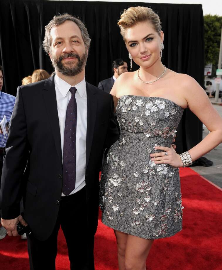 "Filmmaker Judd Apatow (L) and actress/model Kate Upton attend the premiere of Twentieth Century Fox's ""The Other Woman"" at Regency Village Theatre on April 21, 2014 in Westwood, California. Photo: Kevin Winter, Getty Images"