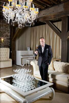 Jean-Charles Boisset in a special events room featuring JCB Champagne at Buena Vista Winery, near Sonoma, Calif., Monday, April 14, 2014.