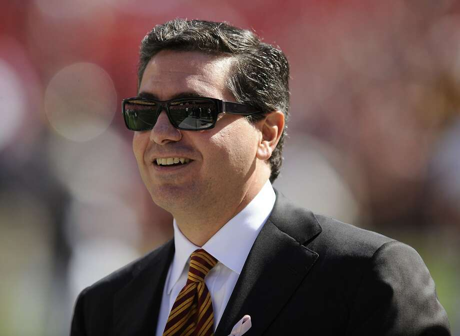 "FILE - In this Oct. 12, 2008 file photo, Washington Redskins owner Daniel Snyder is seen before the St. Louis Rams NFL football game in Landover, Md. Snyder says it's time to put some money behind his claim that his team's nickname honors Native Americans. Snyder said Monday March 24, 2014, he's creating a foundation to assist American Indian tribes, even as some in that community continue to assert that the name ""Redskins"" is offensive. (AP Photo/Nick Wass, File) Photo: Nick Wass, Associated Press"