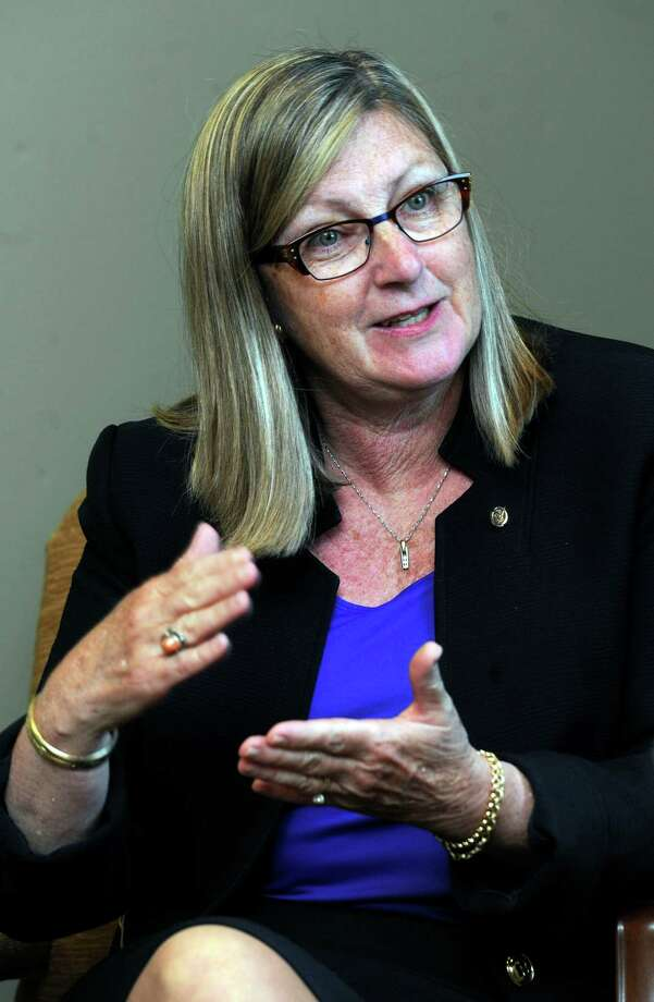 Cynthia C. Merkle has been elected president of Union Savings Bank in danbury, Conn.  She meets with The News-Times Tuesday, April 22, 2014. Photo: Carol Kaliff / The News-Times