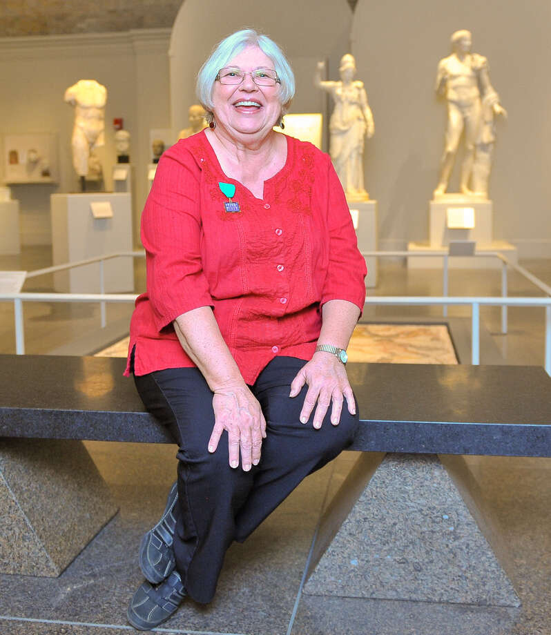 Mary Hogan, a retired teacher, is a docent at the San Antonio Museum of Art. Photo: Robin Jerstad / For The Express-News