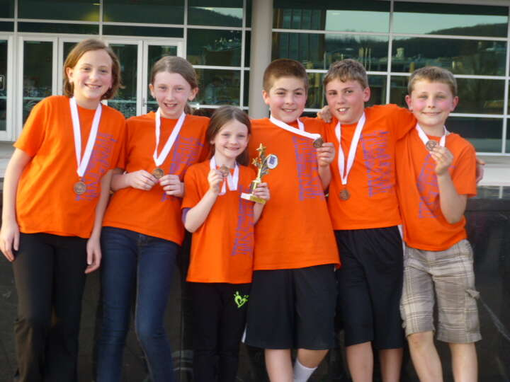 The Green Meadow Elementary School won first place in the Odyssey of the Minds Regional Competition