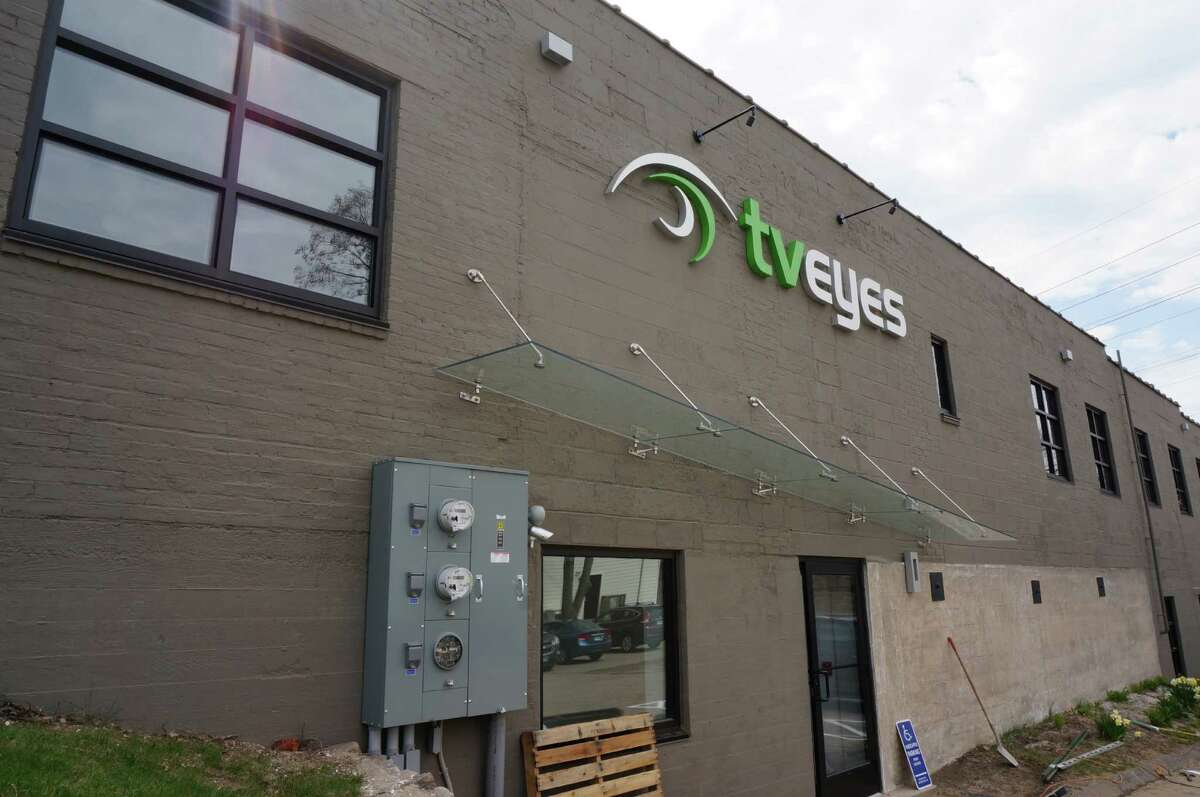 Built as a printing shop in the 1930s, this building at 1150 Post Road has taken a huge leap forward as a mass-communications venue. It is the new headquarters for TVEyes Inc., which provides a computer-search service to locate TV and radio broadcasts.
