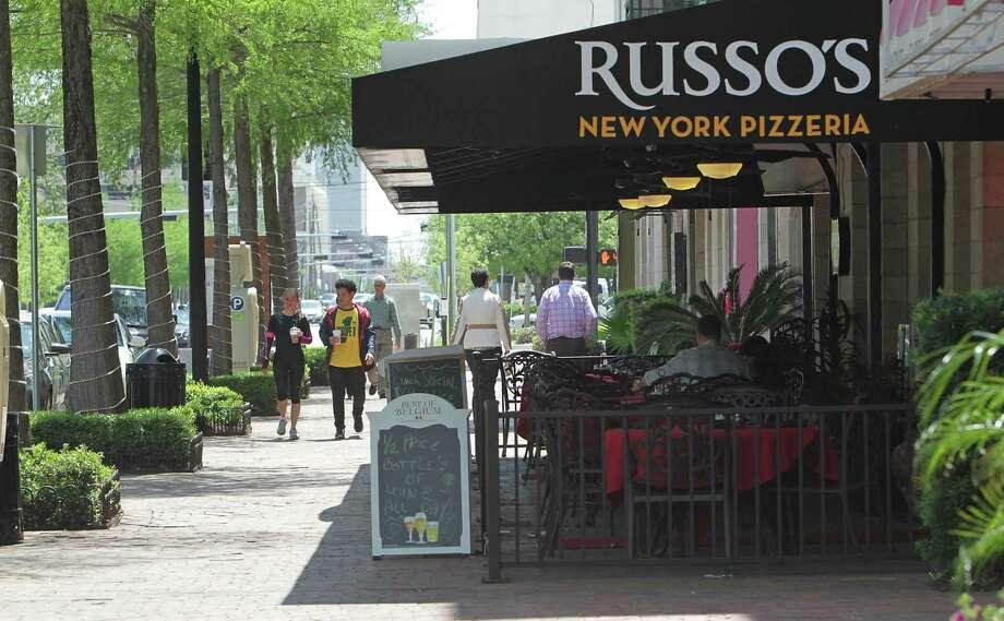 Restaurants in the 300 block of Gray street Wednesday, April 16, 2014, in Houston. ( James Nielsen / Houston Chronicle ) Photo: James Nielsen, Staff / © 2014  Houston Chronicle
