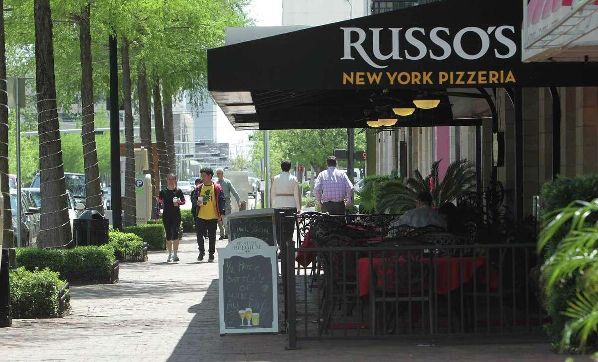 Restaurants in the 300 block of Gray street Wednesday, April 16, 2014, in Houston. ( James Nielsen / Houston Chronicle )