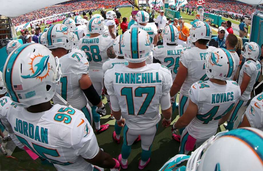 29. Miami Dolphins282,500 average monthly player searchesTop five players:WR Mike Wallace (74,000)QB Ryan Tannehill (49,500)RB Lamar Miller (40,500)CB Brent Grimes (18,100)WR Brian Hartline (18,100) Photo: Mike Ehrmann, Getty Images