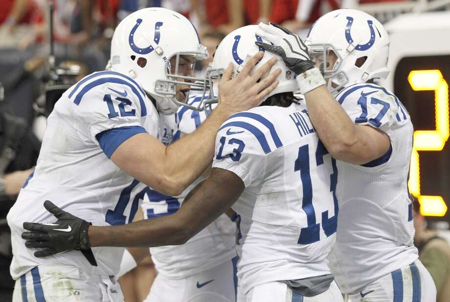 25. Indianapolis Colts341,840 average monthly player searchesTop five players:QB Andrew Luck (165,000)FS LaRon Landry (49,500)WR T.Y. Hilton (33,100)WR Darrius Heyward-Bey (22,200)TE Coby Fleener (14,800) Photo: Thomas B. Shea, Getty Images