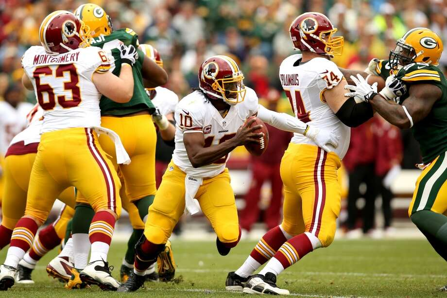 22. Washington Redskins396,670 average monthly player searches  Top five players:QB Robert Griffin III (110,000)WR DeSean Jackson (90,500)RB Alfred Morris (40,500)WR Pierre Garcon (27,100)CB DeAngelo Hall (22,200) Photo: Matthew Stockman, Getty Images