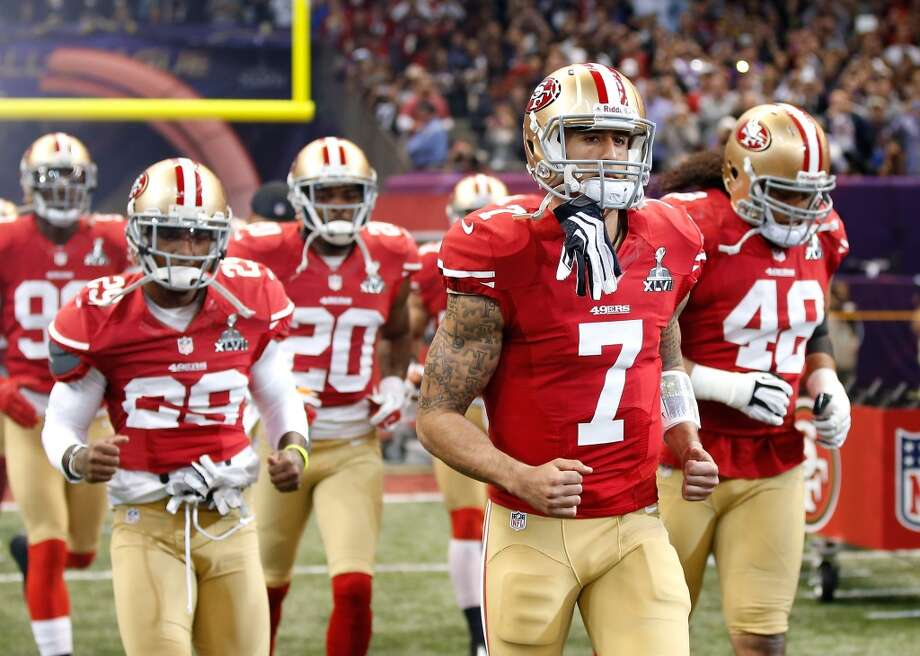 4. San Francisco 49ers1,179,700 average monthly player searches  Top five players:QB Colin Kaepernick (550,000)WR Michael Crabtree (110,000)WR Anquan Boldin (90,500)TE Vernon Davis (74,000)LB Patrick Willis (60,500) Photo: Chris Graythen, Getty Images