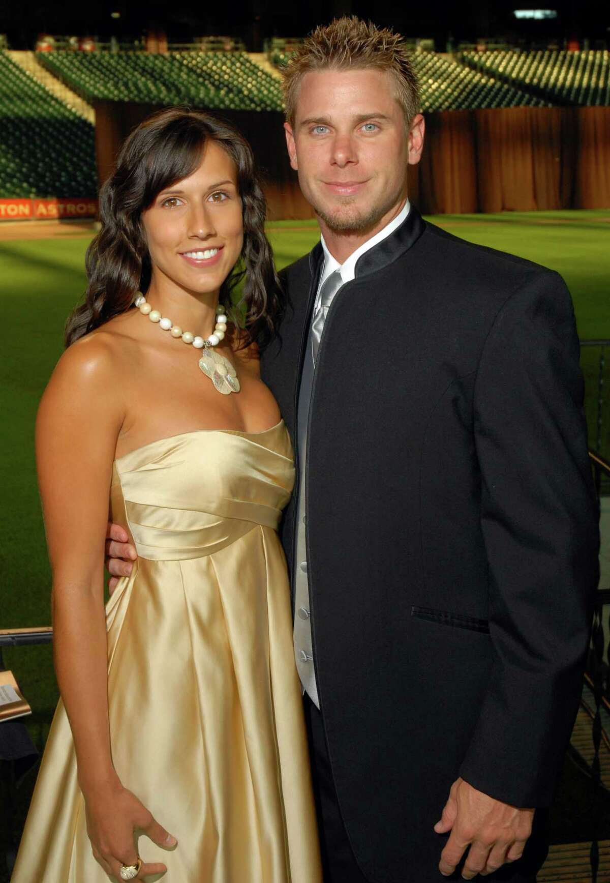 Dana Kohler and Brandon Backe at the Astros Wives Gala at Minute Maid Park Thursday July 31,2008. (Dave Rossman/For the Chronicle)