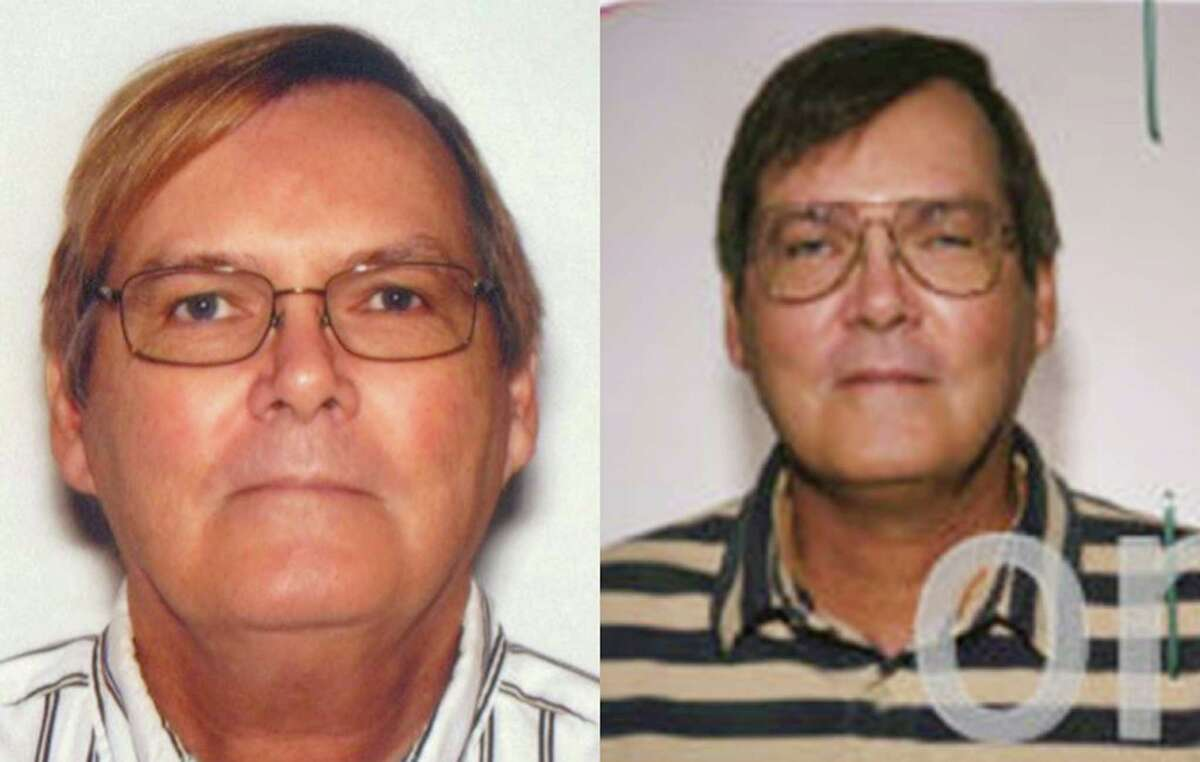 This combination of photos provided by the Federal Bureau of Investigation shows William James Vahey in 2013, left, and 2004. The FBI is asking for help to identify at least 90 victims of Vahey's, a suspected serial child predator who worked in American schools worldwide for four decades. Vahey, 64, killed himself in Luverne, Minn., on March 21. (AP Photo/FBI)