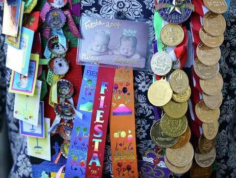 Detail photo of Kevin Steger's medals Monday April 21, 2014. Photo: San Antonio Express-News / © 2014 San Antonio Express-News