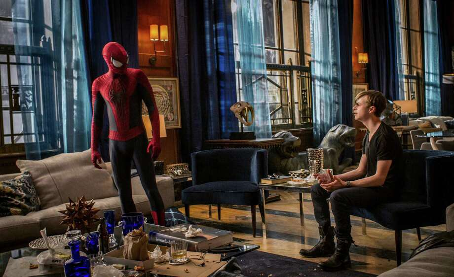 "This image released by Sony Pictures shows Andrew Garfield and Dane DeHaan in ""The Amazing Spider-Man 2."" Photo: Niko Tavernise, Associated Press / Columbia Pictures - Sony Picture"