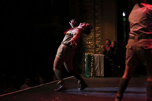 "Allison Little performs in ""The 1st Annual Gay Boy Scout Jamboree Extravaganza"" skit during Cornyation at the Charline McCombs Empire Theatre in San Antonio on Tuesday, April 22, 2014. Photo: Lisa Krantz, SAN ANTONIO EXPRESS-NEWS / SAN ANTONIO EXPRESS-NEWS"