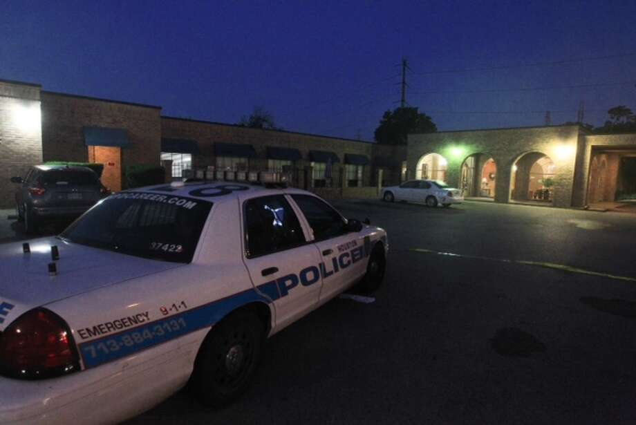 Homicide investigators say an encounter left one man dead and another hospitalized about 11:30 p.m. Tuesday at a nursing home at 1737 North Loop near Ella. Photo: Cody Duty / Houston Chronicle