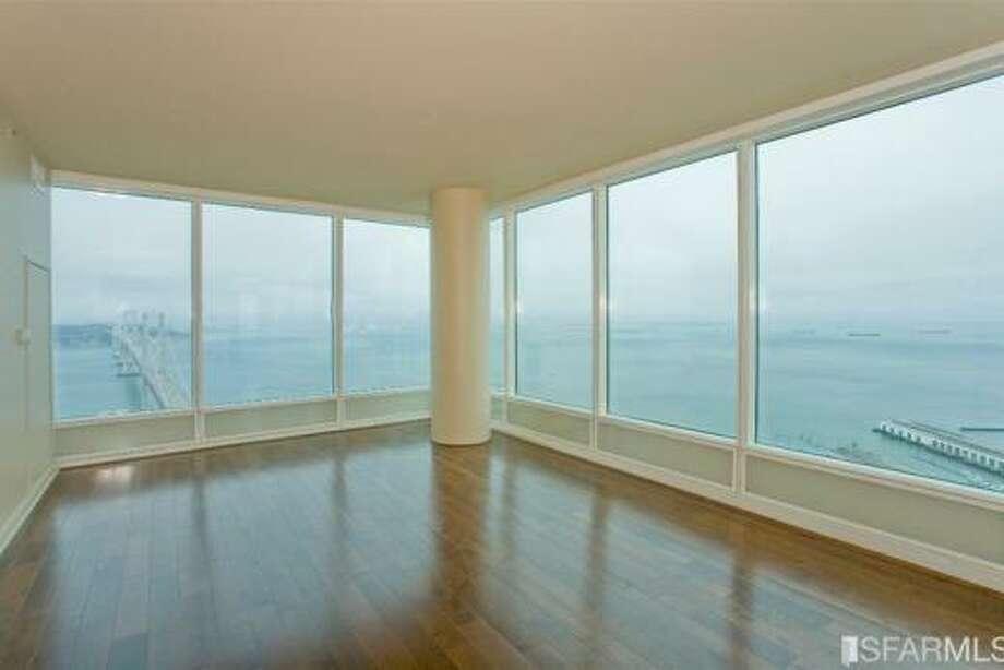 Living room and glass walls. Photos via Apartment List.com