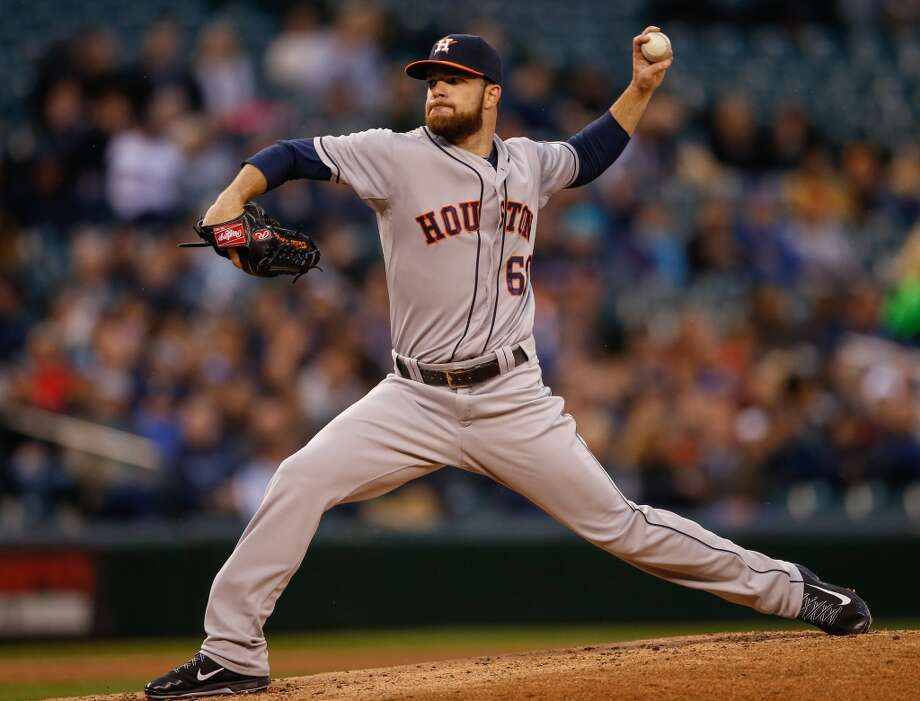 April 21: Astros 7, Mariners 2   Starting pitcher Dallas Keuchel #60 of the Astros pitches. Photo: Otto Greule Jr, Getty Images