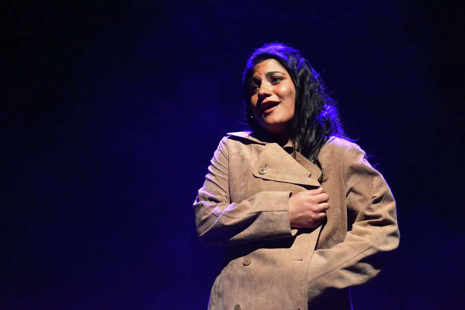 Deanna Lasco plays the part of Eponine in the Immaculate High School production of 'Les Miserables.' Students rehearsed on Tuesday, April 22, 2014 for their presentation of the musical this weekend April 24 and April 25 at 7;00 and April 26 at 1:30 and 7:00. Go to www.immaculatehs.org to purchase tickets. Photo: Lisa Weir / The News-Times Freelance