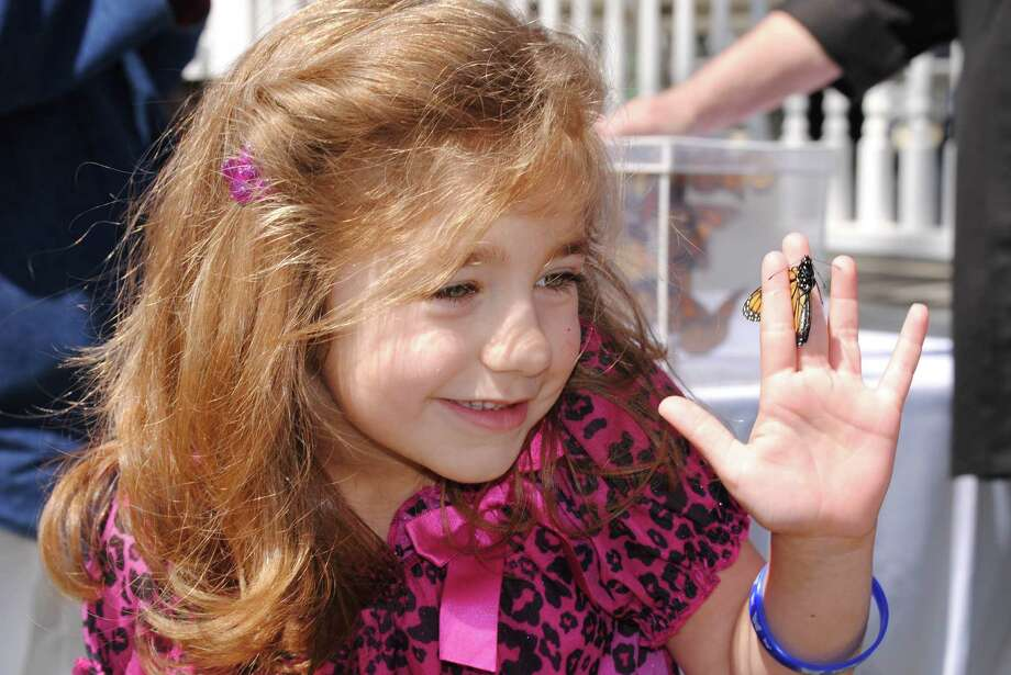 Butterfly release by Lakes Area Hospice