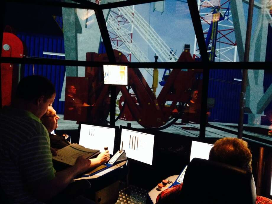 Noble Corp. opened a new training center in Sugar Land, Texas in August 2013. The state-of-the-art facility uses realistic simulations to keep employees up-to-speed on operating offshore drilling equipment. Photo: Ryan Holeywell, Houston Chronicle