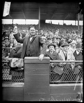 William Wrigley Jr standing behind a railing at Wrigley Field, throwing a baseball, Chicago, Illinois, 1928. (Photo by Chicago History Museum/Getty Images) Photo: Chicago History Museum, Getty Images / Archive Photos