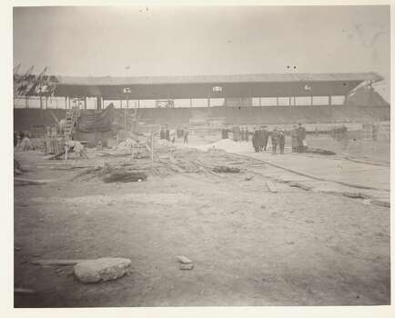Weeghman Park (completed 1914) under construction, Chicago, Illinois, early to mid 1910s. Weeghman Park was renamed Wrigley Field in 1927. (Photo by Joseph A. Garrity/Chicago History Museum/Getty Images) Photo: Chicago History Museum, Getty Images