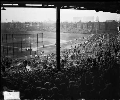 Interior view of Wrigley Field from the grandstands behind home plate, Chicago, Illinois, 1927. (Photo by Chicago History Museum/Getty Images) Photo: Chicago History Museum, Getty Images
