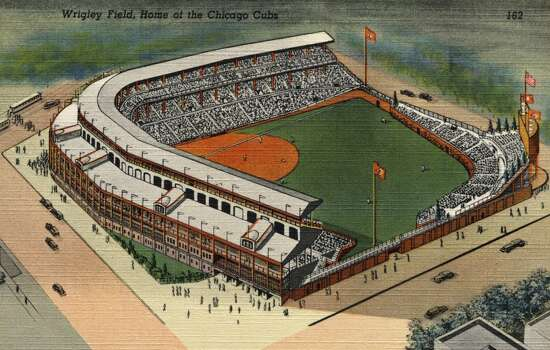 A postcard featuring Wrigley Field in Chicago, circa 1939. (Photo by LCDM Universal History Archive/Getty Images) Photo: UniversalImagesGroup, Getty Images