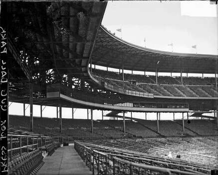 View of the press box, upper deck, and empty grandstands at Wrigley Field, located at 1060 West Addison Street, Chicago, Illinois, 1930. (Photo by Chicago History Museum/Getty Images) Photo: Chicago History Museum, Getty Images