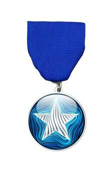The Blue Star Contemporary Art Museum's first medal was designed by artist-in-residence Alex Rubio. $10 at the art space in the Blue Star Arts Complex. Courtesy photo.