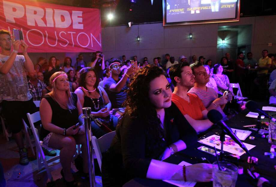 Pride Superstar gives is a chance for local singers to showcase their talent. Photo: Mayra Beltran, Staff / © 2013 Houston Chronicle